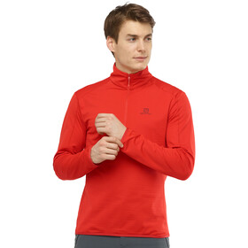 Salomon Outrack Mid Shirt Halve Rits Heren, goji berry